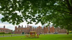 London, Hampton Court Palace, King Henry VIII house Stock Footage