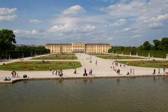 Schonbrunn Palace in Vienna - stock photo