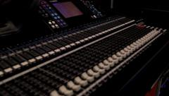 Professional Audio Soundboard Mixer Stock Footage