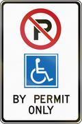 Disabled Parking In Canada - stock illustration