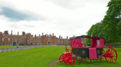 Hampton Court Palace, old royal castle in London Stock Footage