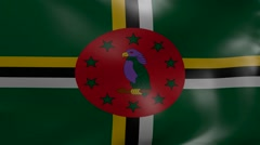 Dominica strong wind flag Stock Footage