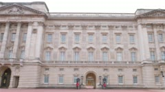 Royal Backingham Palace, City of Westminster Stock Footage