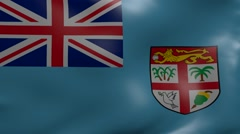 fiji strong wind flag - stock footage