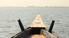Fishing boat going through water Stock Footage