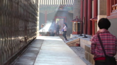 Lama Temple courtyard, Beijing, China - stock footage