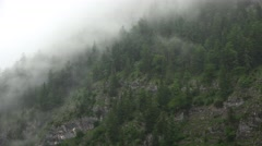 4k Becoming mountain clouds Austria alps after rain Stock Footage