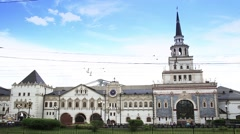 Kazansky railway station in Moscow, Russia Stock Footage