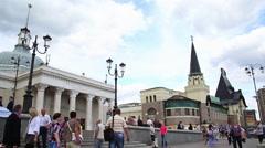 Yaroslavsky Amtrak Station, Komsomolskaya Square Stock Footage