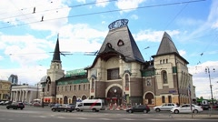 Yaroslavsky Amtrak Station in Moscow - stock footage