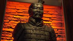 Terracotta Army Replica Black Copy tilt Stock Footage