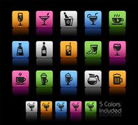 Drinks Icons -- ColorBox Series Stock Illustration