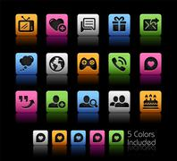 Social Communications Icons -- ColorBox Series Stock Illustration