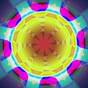 Stock Illustration of Abstract colorful circle.