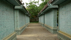 Zoom Out of Memorial Wall of Names - Siem Reap Cambodia - stock footage