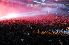 Party crowd at a concert Stock Photos