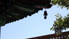 Buddhist temple, bell, Beijing, China Stock Footage