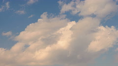 Fluffy clouds and blue sky time lapse 4K Stock Footage
