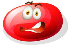 Red facial expression slime - stock illustration