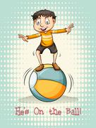 He's on the ball Stock Illustration