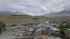 TIMELAPSE Kargil city,mosque and mountains,Kargil,Ladakh,India Stock Footage