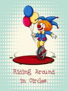 Joker riding on wheel Piirros