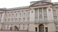 Monarch mansion Buckingham Palace, London Stock Footage