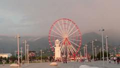 Ferris Wheel In Batumi 4 Stock Footage