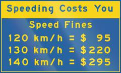 Speeding Costs You In Canada - stock illustration