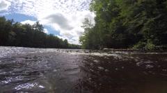 Along  the Tahquamenon River Michigan upper peninsula - stock footage