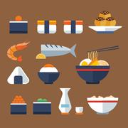 Japan food flat icon Stock Illustration