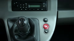 Close up of Male Using Manual Gear Shift Stock Footage