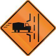 Truck Entrance On Left in Canada - stock illustration