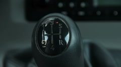 Close up of Male Using Manual Gear Shift - stock footage