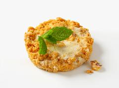 Mini Sbrisolona - Italian cornmeal cookie with almonds Stock Photos