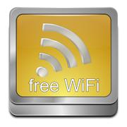 Stock Photo of free wireless WiFi button