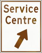 Service Centre Direction In Ontario - Canada - stock illustration