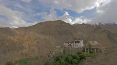 TIMELAPSE Lamayuru Gompa and clouds,Lamayuru,Ladakh,India Stock Footage