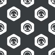 Stock Illustration of Black hexagon dishware pattern