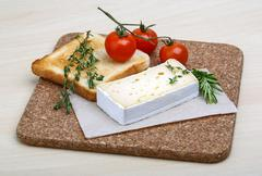 Soft brie cheese Stock Photos