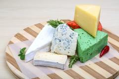 Assortment cheese - stock photo