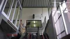4k Hallstatt Salzwelten Cable Car drive timelapse Stock Footage