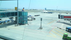Airport activity 2 Stock Footage