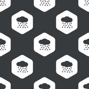 Black hexagon rain pattern Piirros