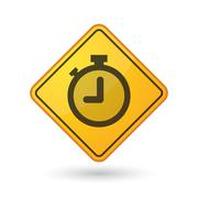 Awareness sign with  a timer Stock Illustration