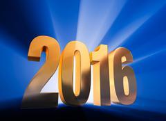 2016! - stock illustration