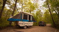 Pop-up Camper Trailer being popped-down Arkistovideo