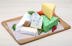 Assortment cheese Stock Photos