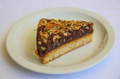 Pistachio cheesecake Stock Photos