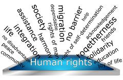 Human Rights Wordcloud Stock Photos